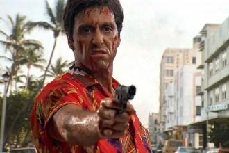 "Al Pacino in the Brian De Palma remake of ""Scarface."""