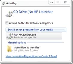CD Drive autoplay