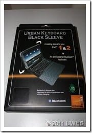 UWHS Review - Urban Factory Keyboard Black Sleeve for iPad 004