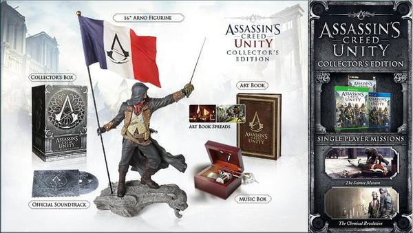 assassins creed unity collectors edition