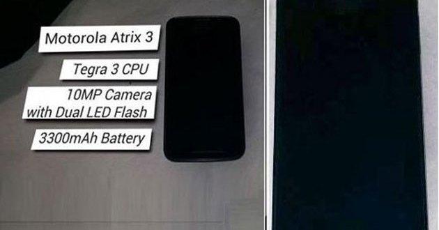 Motorola Atrix 3 con Nvidia Tegra 3