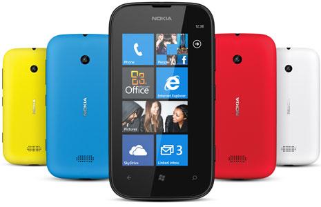 Lumia 510, disponible en 5 colores