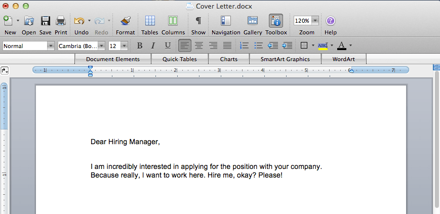 Writing Cover Letters is My Hobby