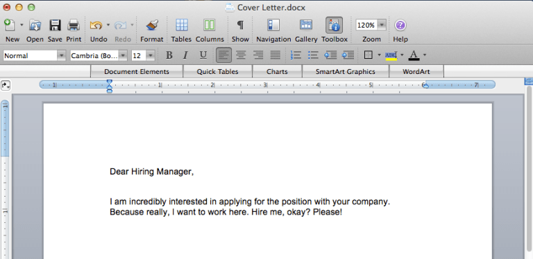 Sample Cover Letter | Moving Peaces
