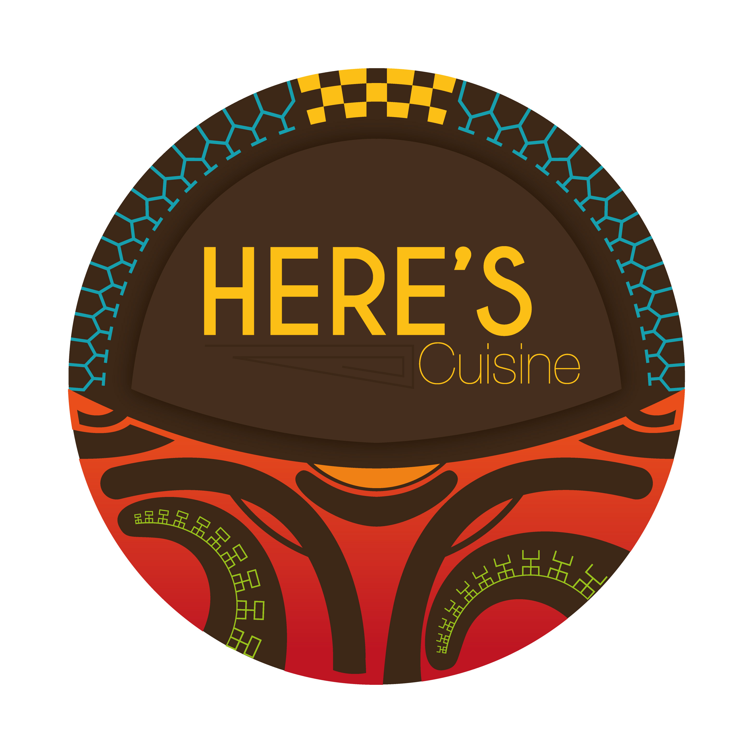 herenui liu logo here's cuisine
