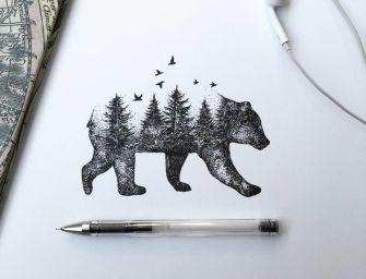 Alfred Basha représente la nature : Les animaux et la végétation ne font qu'un