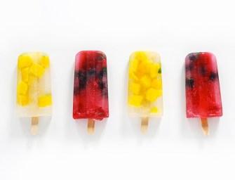 La glace à l'eau de coco et aux fruits