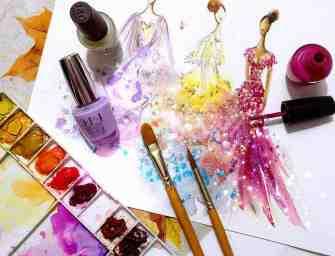 Chan Clayrene dessine des robes haute couture avec du vernis à ongles