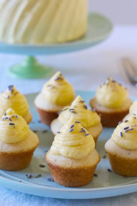 lemon and lavender mini cupcakes | movita beaucoup