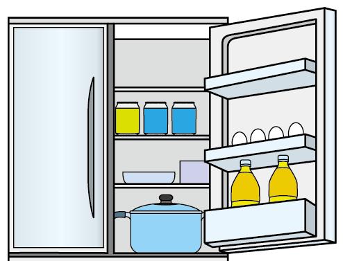 料理14-冷蔵庫-イラストポップの生活のクリップアートカット集