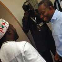 President Goodluck Jonathan visits Warri billionaire, Ayiri Emami at Home