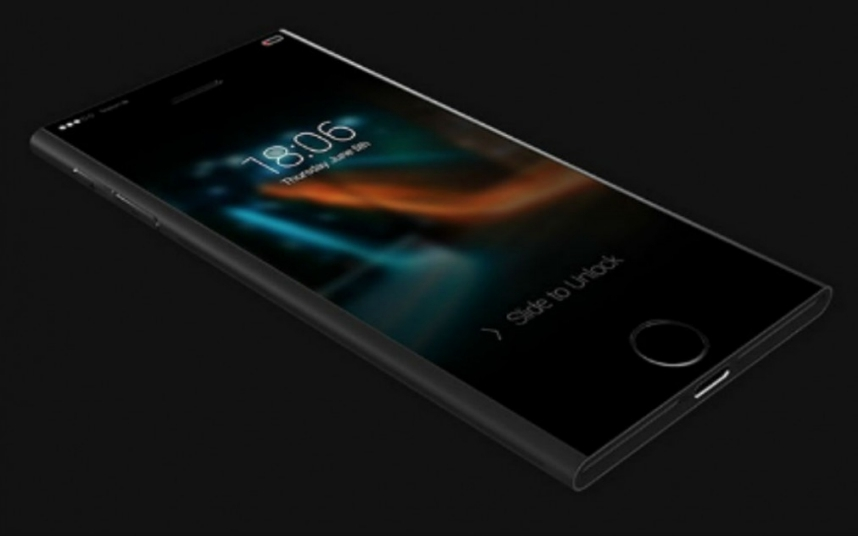 The iPod Nano inspired this iPhone 7 design from Jackson Chung. The concept device features touch-sensitive panels on the side, which show messages or app notifications without needing to waste energy firing up the screen. Picture: Jackson Chung