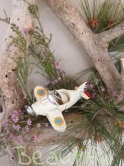 Μπομπονιέρα Βάπτισης. Μπομπονιέρα βάπτισης αγόρι, αεροπλάνο vintage.