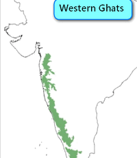 Western Ghats Map