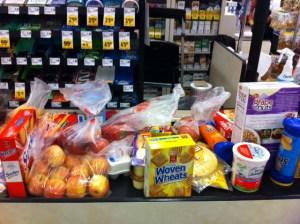 the checkout lane at lucky @MasterCard #FuelFamilyFun and #MC