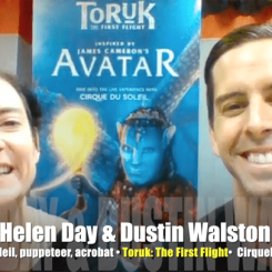 """<!-- AddThis Sharing Buttons above --><div class='at-above-post-homepage addthis_default_style addthis_toolbox at-wordpress-hide' data-title='Avatar flies to Cirque du Soleil! Watch it! VIDEO INTERVIEW' data-url='http://mrmedia.com/avatar-flies-cirque-du-soleil-watch-video-interview/'></div>http://media.blubrry.com/interviews/p/s3.amazonaws.com/media.mrmedia.com/audio/MM-Cirque-du-Soleil-Helen-Day-puppeteer-Dustin-Walston-acrobat-Toruk-031016.mp3Podcast: Play in new window 