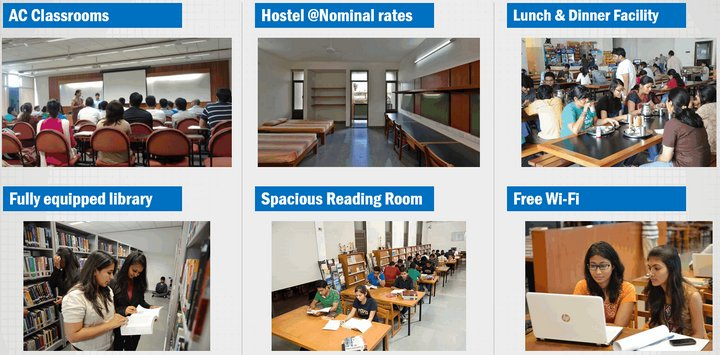 PDPU campus hostel library
