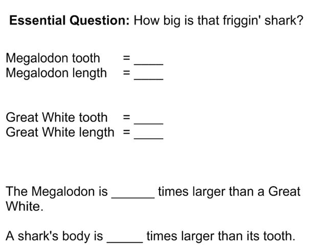 Megalodon Notes blank