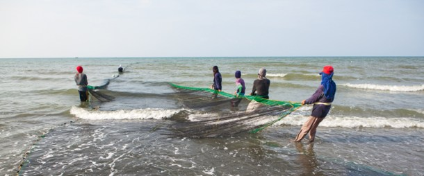 Beach Seine Net Fishing - Philippines