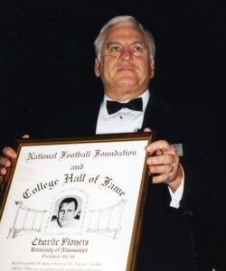 Charlie Flowers, at the time of his induction into the College Football Hall of Fame.