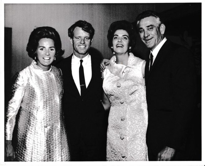 Perian and Charlie Conerly, pictured here with Ethel and Bobby Kennedy.