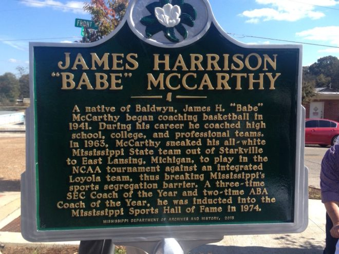Babe McCarthy marker
