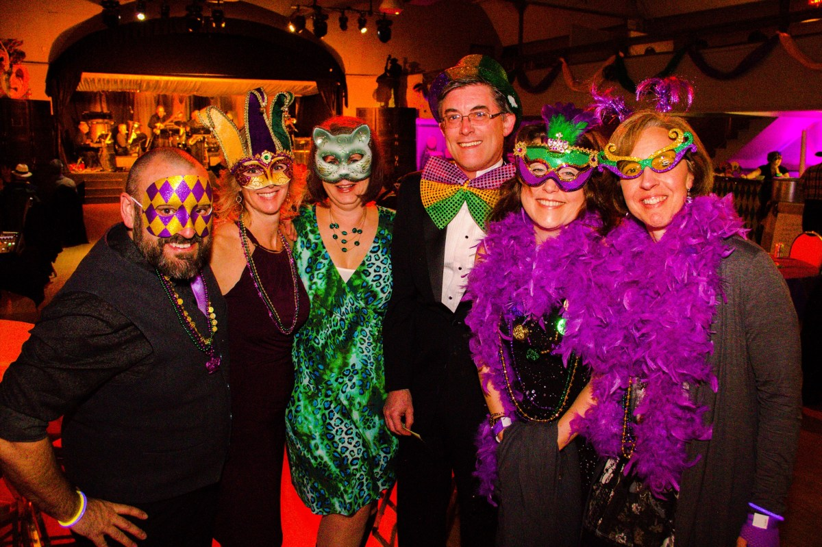This group has got the Mardi Gras look down!