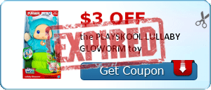 $3.00 off the PLAYSKOOL LULLABY GLOWORM toy