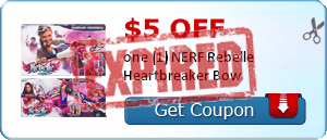 $5.00 off one (1) NERF Rebelle Heartbreaker Bow