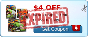 $4.00 off NERF ZOMBIE STRIKE CROSSFIRE Bow