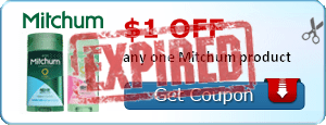 $1.00 off any one Mitchum product