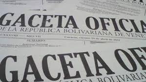 PUBLICADA EN GACETA NUEVA U.T. 177 Bs.