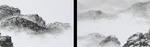 2006, Ink on Miniature Album Leaf, 3 x 14⅛ in; 7½ x 36cm Each