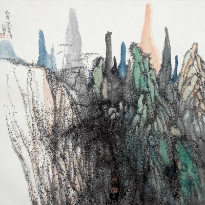 2011, ink and mineral pigments on xuan paper, 25.5 x 25.5 inches