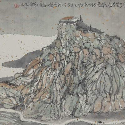2011, ink and mineral pigments on xuan paper, 13 x 18.25 inches