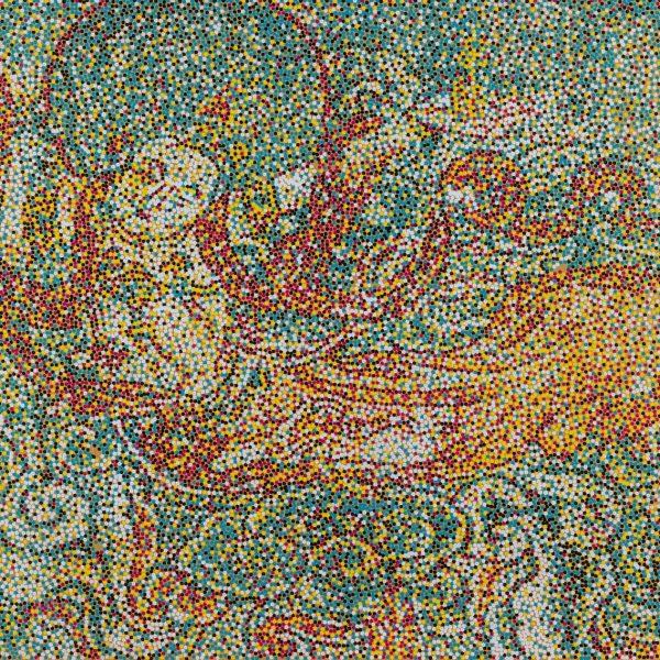 Acrylic on canvas, 39.25 x 55in | 100 x 140cm