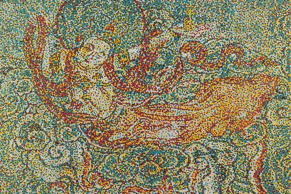 Yang Mian CMYK - Jin Dynasty Flying Apsaras, 2016, Acrylic on canvas 100 x 140 cm