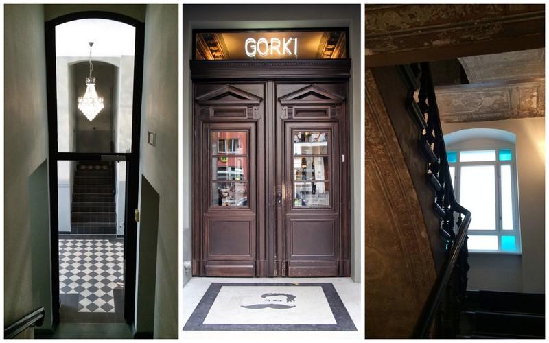 Die EIngangstür und Eindrücke von meinem Besuch bei den Gorki Apartments.