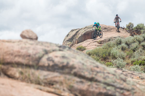 Riders at Hartman Rocks in Gunnison, CO