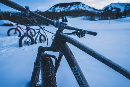 frosty fat bikes in gothic colorado