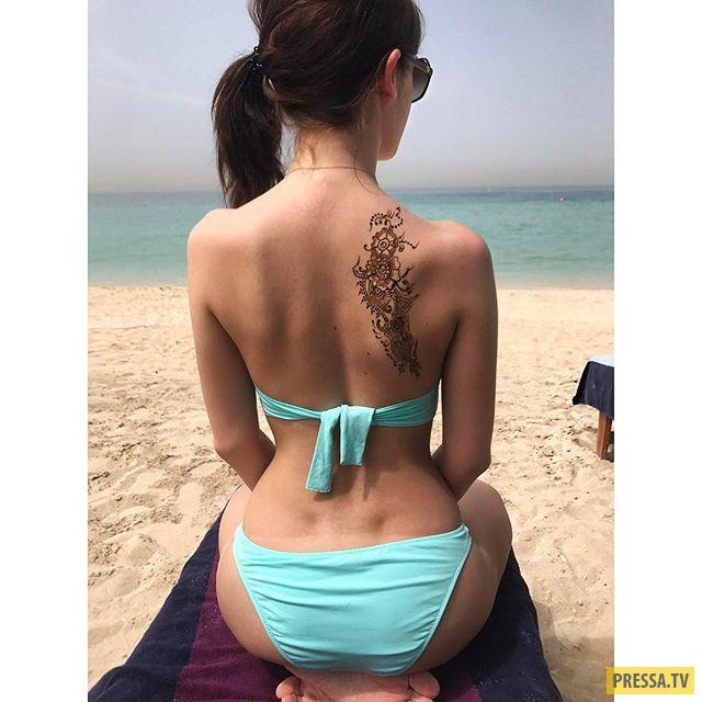 Пикантная пляжная фотосессия дочери певицы Славы (5 фото)