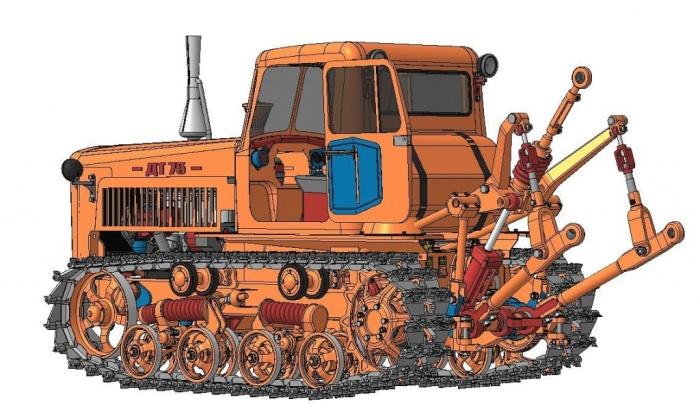 Конструкция трактора ДТ-75 позволяет использовать самое разное навесное оборудование. | Фото: textron-zapchasti.ru.