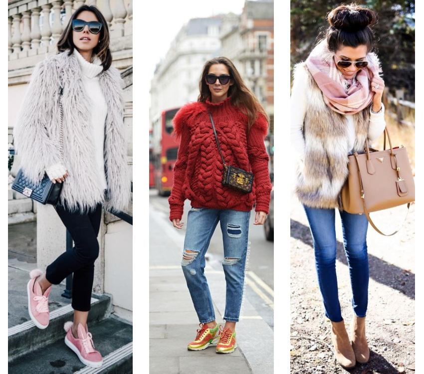 Зимняя мода - уличный стиль