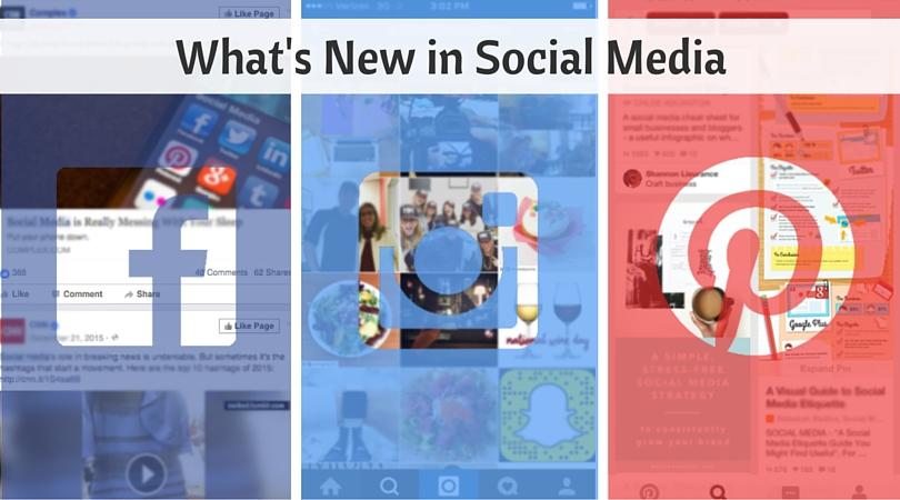 What's new in social media (1)