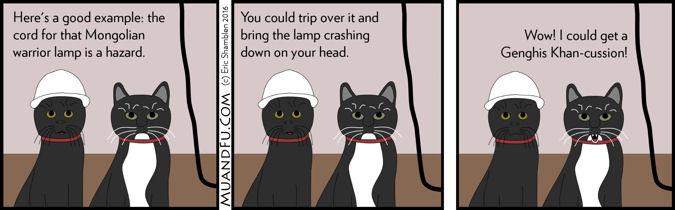 Lamp cord hazard