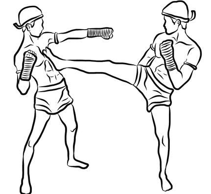 muay thai clinch knee