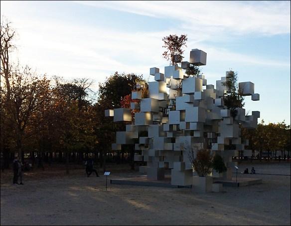 """Many Small Cubes"" by Sou Fujimoto, Jeu de Paume view; pic; Cynthia Rose"