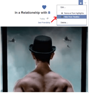 how to hide relationship status on facebook timeline