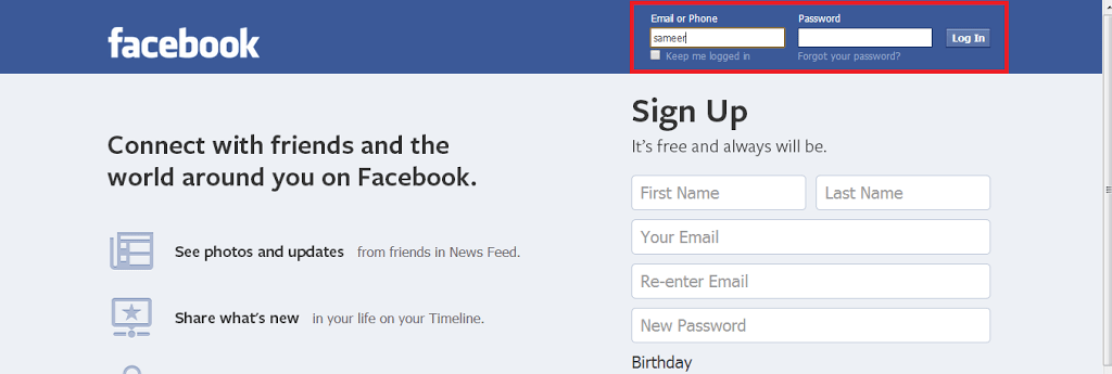 how to know the email id of a facebook account
