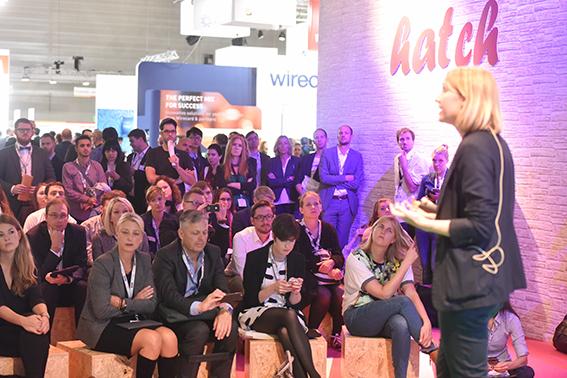 Start-up Village Bühne, Stephanie Naegeli (Nestlé), Halle 6